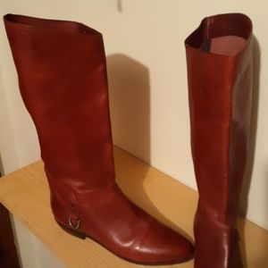 Etinenne Aigner Red Riding Boots